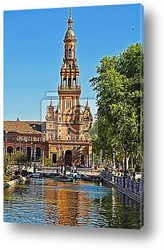 Panorama of central Seville, Spain