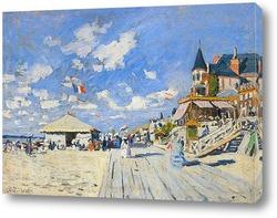 Картина Тротуар на пляже в Трувиль