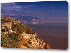 Постер С видом на Свято-Георгиевский монастырь