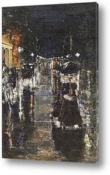 Постер Берлин. Уличная сцена (Лейпцигерштрассе), 1889