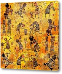 Постер Африканские рисунки