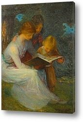 Постер Дети за книгой