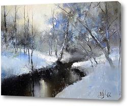 Картина Февраль на реке Сходня