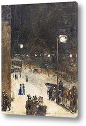 Постер Берлинская улица ночью, 1889