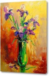Картина Букет ирисов в вазе