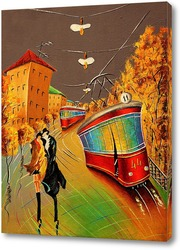 Постер Остановка осень