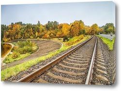 Постер Железная дорога, ведущая в лес
