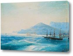 Постер Корабли у берега.