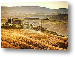 Постер View of typical Tuscany landscape