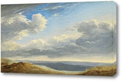 Постер Изучение облаков над римской Кампанией