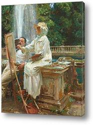 Картина Фонтан, Вилла Торлония, Фраскати, Италия
