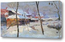 Украинская Деревня зимой