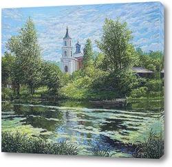 Картина Храм на пруду...