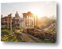 Постер Римские развалины
