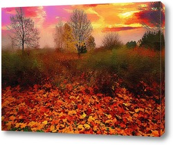 Картина осенний закат