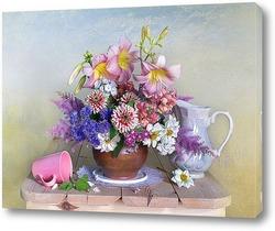 Картина Букет красивых садовых цветов