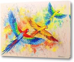 Картина Полет попугаев