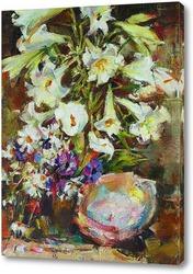 Картина Н. Фешин Лилии и раковина (авторская копия)
