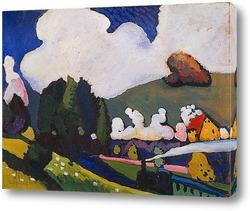 Картина Пейзаж с паровозом