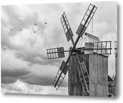 Картина Мельница и птицы
