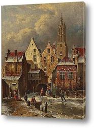 Голландская уличная сцена