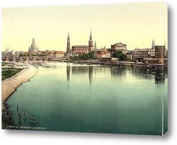 Постер Старый город, Дрезден, Саксония, Германия 1890-1900 гг