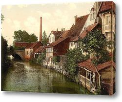 Постер  Хильдесхайм, Ганновер, Германия.1890-1990 гг