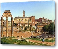 Базилика Сан-Пьетро и Тибр Рим, Италия.