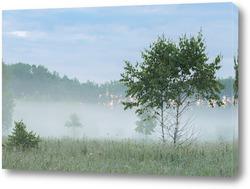 """Картина """"Раннее утро за городом""""."""