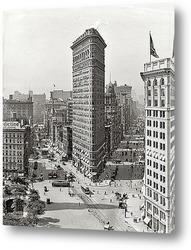 Небоскреб Flatiron Building.