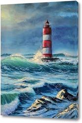 Картина Маяк в бушующем море