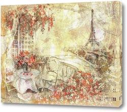 Постер Вид на Париж