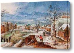 Картина Херст зимой