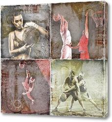 Постер Баскетбольные игроки