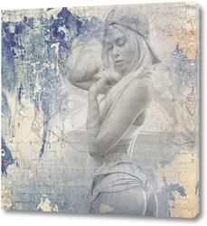 Картина Сексуальная блондинка