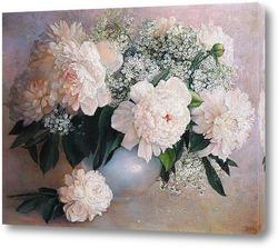 Постер Розовые пионы