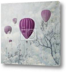 Постер Розовые воздушные шары