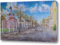 Картина Б. Ордынка. Храм св. вмц. Екатерины на Всполье