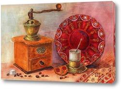 Постер натюрморт с кофемолкой