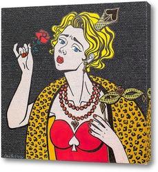 """Постер Диптих """"Карточные дамы. Дама черве"""""""