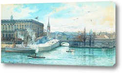 Постер Стокгольмский замок и Норрбро