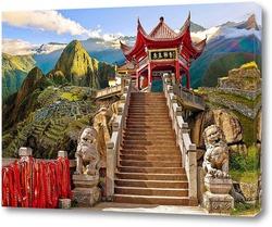 Постер Храм в Китае