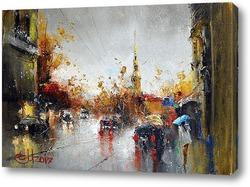 Постер Питерский дождь