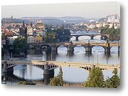 Постер Один из многочисленных мостов Праги