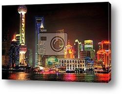Постер Shanghai Skyline - China