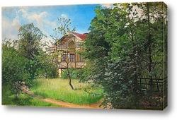 Дом в зеленом саду