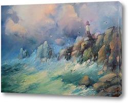 Картина Маяк на скале