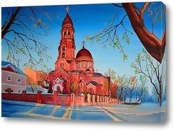 Постер Вид на церковь Озерянской чудотворной иконы Божией Матери