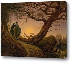 Картина Двое мужчин рассматривают луну