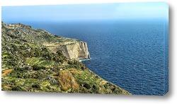 Постер скалы на Мальте